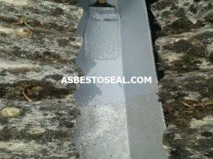 Asbestos gutter repair using Asbestoseal liquid gutter liner from Liquasil Ltd