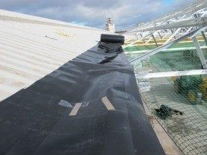 Plygene gutter liner providing a seamless gutter repair