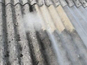 asbestos roof steam cleaning